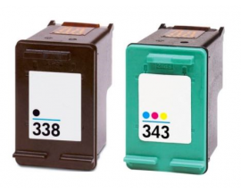 COMPATIBLE TINTA PACK BK/CL HP 338/343