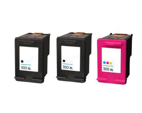 COMPATIBLE TINTA PACK HP 300XL 2 BK+1CL