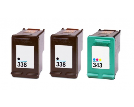 COMPATIBLE TINTA PACK 2BK/CL HP 338/343
