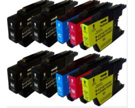 X10 COMPATIBLE TINTA LC1240/1220 BROTHER 4BK/2C/2M/2Y