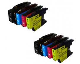 X8 COMPATIBLE TINTA LC1240 BROTHER 2BK/2C/2M/2Y