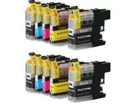 X10 COMPATIBLE TINTA LC123/LC121 BROTHER 4BK/2C/2M/2Y