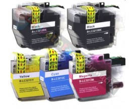 X5 COMPATIBLE TINTA BROTHER LC3213/3211 2BK/C/M/Y