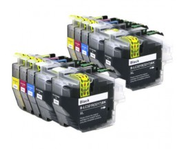 X10 COMPATIBLE TINTA LC3219XL/LC3217 BROTHER 4BK/2C/2M/2Y