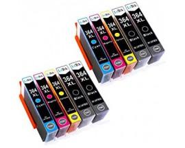 X10 COMPATIBLE TINTA HP 364XL 4BK/2C/2M/2Y 22ml