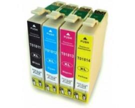 X4 COMPATIBLE TINTA T1811 BK/C/M/Y EPSON