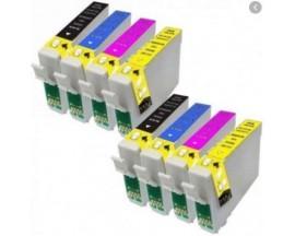X8 COMPATIBLE TINTA T1281 2BK/2C/2M/2Y EPSON
