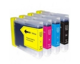 X4 COMPATIBLE TINTA LC970/1000  BROTHER BK/C/M/Y