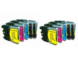 X10 COMPATIBLE TINTA LC980/1100 BROT 4BK/2C/2M/2Y