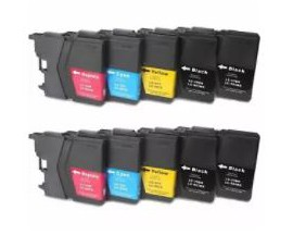 X10 COMPATIBLE TINTA LC985XL BROTHER 4BK/2C/2M/2Y.