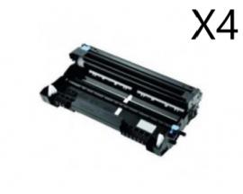 X4 COMPATIBLE TAMBOR BROTHER DR230 BK/C/M/Y 15K