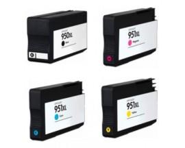 X4 COMPATIBLE TINTA HP 950/951XL BK/C/M/Y 75ml