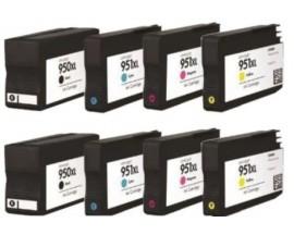 X8 COMPATIBLE TINTA HP 950/951XL 2BK/2C/2M/2Y 75ml