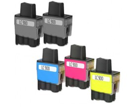 X5 COMPATIBLE TINTA BROTHER LC900/LC950 2BK/C/M/Y