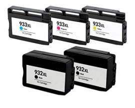 X5 COMPATIBLE TINTA HP 932XL/933XL 2BK/C/M/Y 40ml.