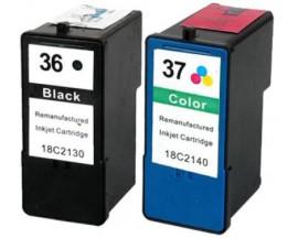 COMPATIBLE TINTA LEXMARK Nº36XL/37XL BK/CL 21 ml