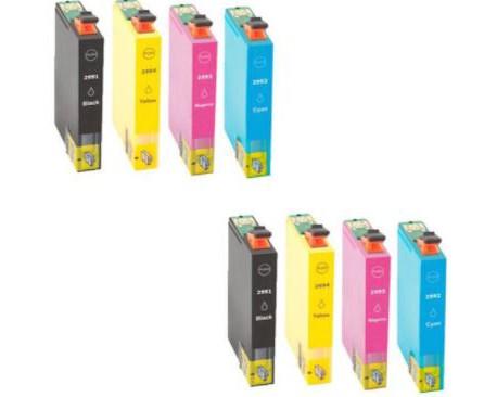 X8 COMPATIBLE TINTA T2991 29XL 2BK/2C/2M/2Y EPSON