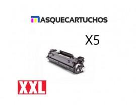 PACK X5 CB435A HP TONER GENER. BK
