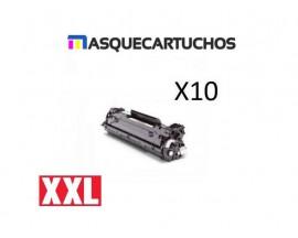 PACK X10 CB436A HP TONER GENER. BK
